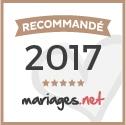 """Label """"Recommandé par Mariages.net"""""""